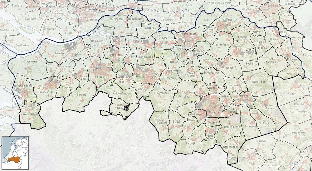 2010-NL-P10-Noord-Brabant-positiekaart-gemnamen