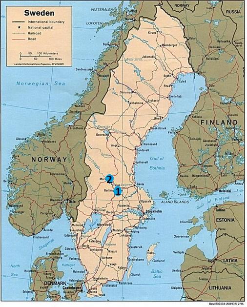 Zweden kaart